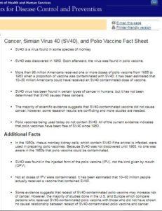 CDC polio vaccine data