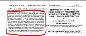Sabin on oral polio vaccine shedding