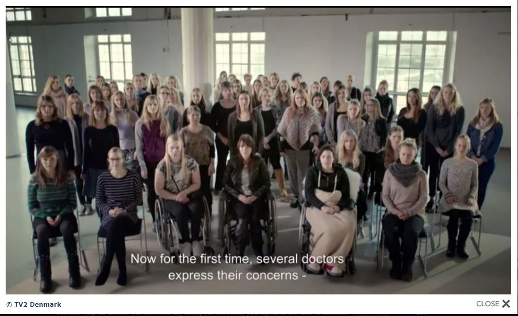 Photo of Danish girls injured by Gardasil