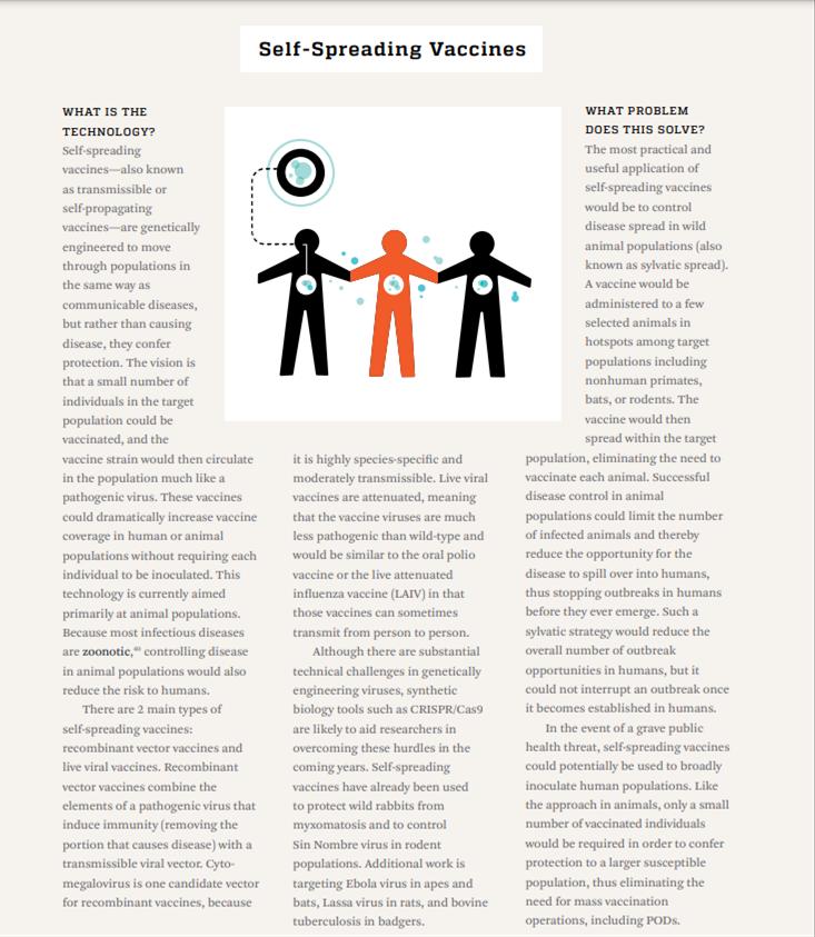 Self-spreading vaccines pg 1