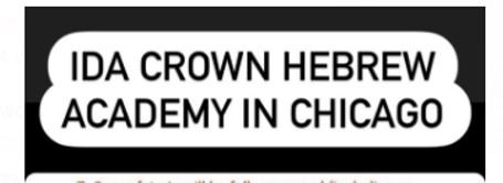 Ida Crown Hebrew Academy logo