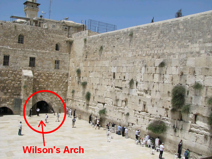Wilson's Arch at the Western Wall