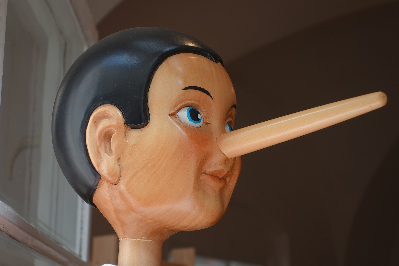 Picture of Pinnochio with long nose