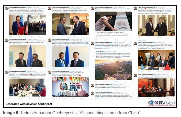 WHO Director-General Tedros with his Chinese Cronies