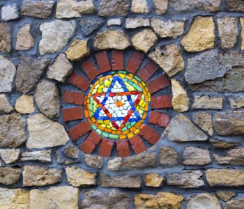 Star of David inset into stone work