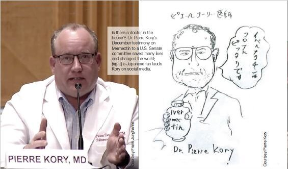 Photo and caricature of Dr. Pierre Kory