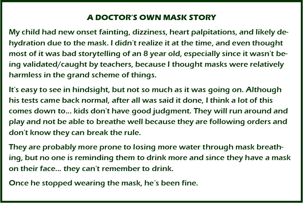 A Doctor's Own Mask Story