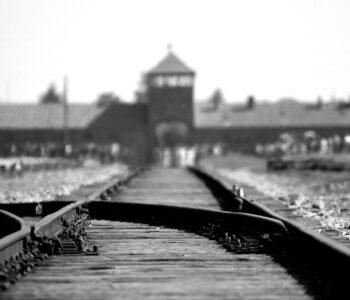 Photo train tracks to Birkenau
